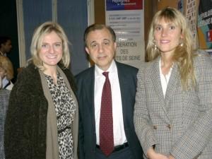 Photo de Valérie Rosso-Debord, Aurélie Taquillain et Roger Karoutchi
